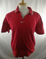 Nike Men's Polo Shirt Red Size Large