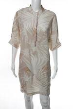 Stella McCartney Beige Ivory Silk Short Sleeve Shift Dress European Size 40