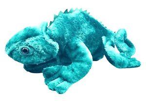 "Toys R Us Animal Alley Chameleon Plush 17"" Lizard Iguana Beanie Animal Rare"