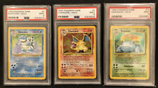 Trio 1999 Pokemon Holo Blastoise #2 Charizard #4 Venusaur #15 PSA 9 Mint