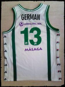 camiseta baloncesto match worn Unicaja Málaga basket basketball jersey canotta