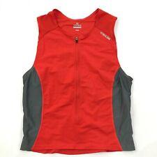 NEW Pearl Izumi 3/4 Zip Cycle Jersey Sleeveless Semi-Form Fit Orange Biking Top