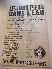 Partitura Los Bases dans el agua Cha Cha Cha en Sax Pol Sura 1958 Music Sheet