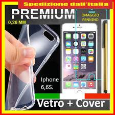 vetro temperato iphone 6 / 6s + cover trasparente con omaggio pennino offerta