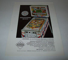 GOTTLIEB SPIN WHEEL ORIGINAL PINBALL MACHINE FLYER BROCHURE GERMAN EDITION 1968
