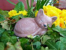 Steinfigur Tierfigur Katze mini terracotta