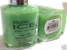 Bari Pure Ice Nail Polish # 1096 Sea Glass Green Holographic Glitters Lmtd Edtn