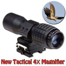 Tactical 4 x Magnifier Scope Sight With 20mm Weaver/Picatinny Rail Mount Hunitng