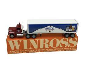 Winross 1/64 Semi Truck - Busch Beer - 1988  RARE Hauck & Sons Distributors