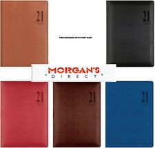 Letts 2021 Diary Croc A6 Bookmark 4 Colours Week to View Leather Look Tactile