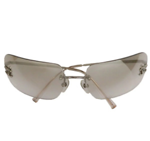 Chanel Sunglasses Coco Mark Clear Silver Gray Gradient Japan