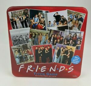 Friends Trivia Game Replacement Parts Pieces Tokens Cards Cardinal Red Tin 2003