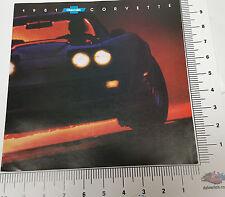 1981 Chevrolet Corvette Fold Out Dealer Sales Showroom Brochure pamphlet