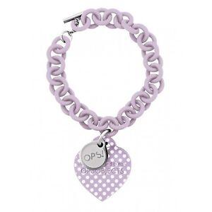 Ops Objects bracelet Pois Collection color light purple/white dots OPSBR-92