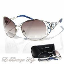 GIANFRANCO FERRE Designer Sonnenbrille PS1100 C4 Silber, Sunglasses NEU mit Etui
