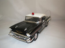 """Ertl/American Muscle  Chevrolet  Bel Air  (Police Chicago) """"1957"""" 1:18 ohne Vp.!"""