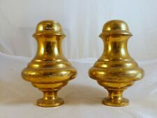 French Antique Architectural Bronze Stairwell Pair of Finials Staircase 1900