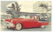 1955 STUDEBAKER PRESIDENT V-8 STATE 4-Dr Sedan - Original Ad Postcard