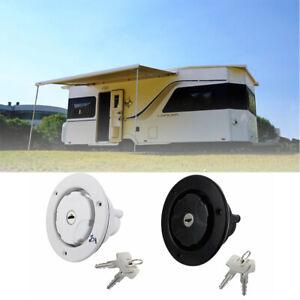 1X  Fresh Water Inlet Filler with Lockable Cap Motorhome Caravan Water Tank AU