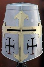 Knights Templar Crusader Helmet Medieval Armour barbute roman with stand