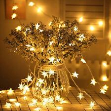 10LED Star Fairy String Lights Battery Powered Wedding Party Chrismas Home Decor