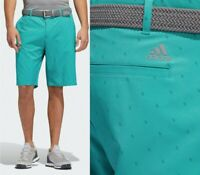 2020 Adidas Golf Ultimate Pine Cone Print Golf Shorts  W38 GREEN - RRP£50