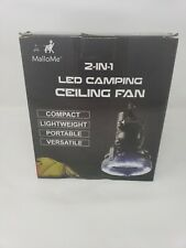 NEW 2-in-1 Portable LED Lantern with Ceiling Fan Camping Tent Emergency Light