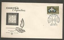 ARGENTINA - 1966 Caritas Emblem  - FD COVER.