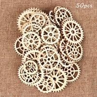 Hollow Scrapbooking Natural Wood Wheel Gear Pattern Ornament Embellishment