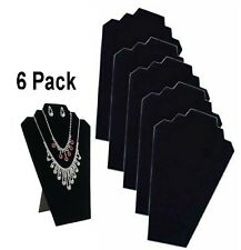 6 PIECES NECKLACE JEWELRY DISPLAY STAND Black Velvet Pendant Holder Mannequin