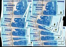50 x ZIMBABWE $100 TRILLION DOLLARS $100,000,000,000,000 NEW UNC consecutive no