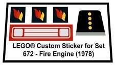 Replica Sticker for Lego® Classic Town Fire set 672 - Fire Engine (1978)