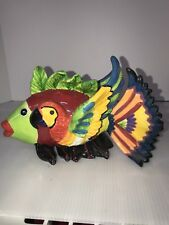 Ceramic Parrotfish Colorful Art Decor Ocean Life Sea Fish Bird 9� Long x6� High