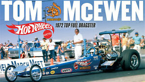 """Tom The Mongosse McEwen 1972 Top Fuel Dragster Car  Poster 8""""x14"""" Photo"""