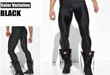 Men's Large Shiny Black Compression Running Tights Training Activewear Gay UK