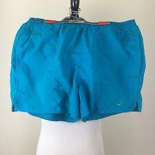 Mens Large Nike Running Shorts Swim Trunks Swimming Turquoise Teal Vintage