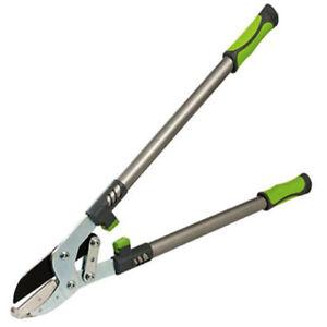 Heavy Duty Tree Lopper Long Handle Anvil Garden Ratchet Cutter Pruning 69cm S18