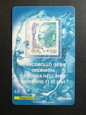 2004   Italia  Tessera Filatelica  La donna nell'Arte   0,70