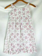 american girl doll bitty baby girl's  dress size 6x white pink floral sleeveless