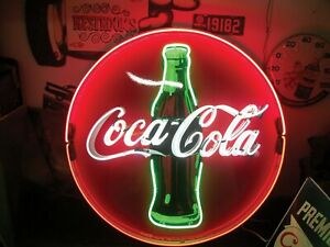 """New Coca Cola Neon Light Sign 24""""x24"""" Lamp Poster Real Glass Beer Bar"""