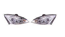 Ford Focus MK1 2001 - 2005 Black Angel Eye Projector Head Lights - 1 Pair