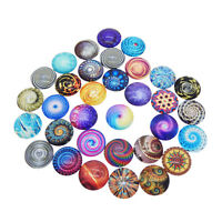 38761 Transparent Glass Mixed Pattern Cameo Cabochons Charms Finding 25*25*7mm