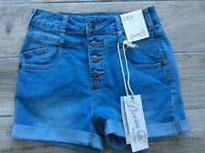 Ladies Denim Shorts Size 10 New With Tags Button Fly