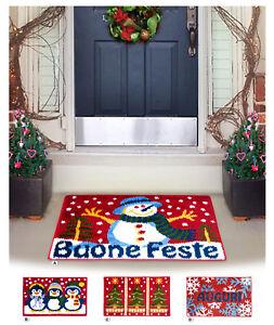 Carpet Christmas Multipurpose Bathroom Cooking Room 50x80 Doormat Greeting Soft