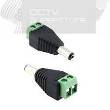 20 pcs DC 5.5 x 2.1mm Power Male Jack Adapter Cable Plug Connector for CCTV LED