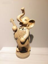 Home Decor-Elephant Sculptures & Figurines - Play Musical Instrument