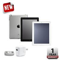 Apple iPad 2,3 or 4 - 16GB,32GB,64GB or 128GB - Black or White - 1-Year Warranty