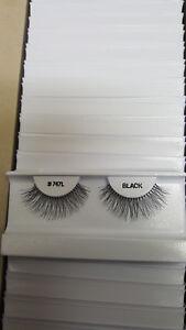 Fake Eyelash Eye Lash 747L Long Black Lashes, 100 Pairs