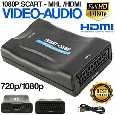 New Scart To Hdmi Composite Audio Video Upscale Converter Adapter for Dvd Hdtv