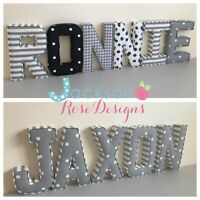 Baby Name Padded Letters, Handmade Nursery name, personalised, girl, boy